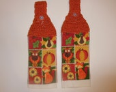 crochet autumn towel, kitchen towel, fall, thanksgiving decor, home decor