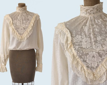 Edwardian Lace Blouse size S