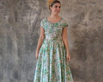 1950s Silk Dress size S
