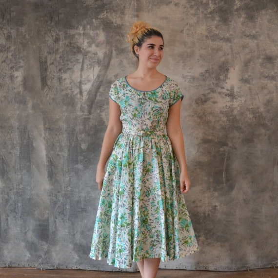 1950s Silk Dress size S