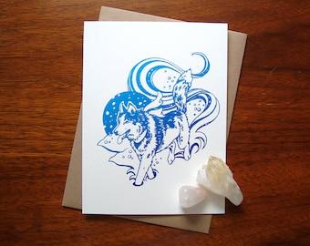ART CARD - Winter Husky