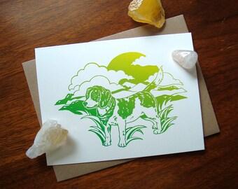 ART CARD - Summer Beagle