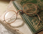Vintage Celluloid Spectacles / Eyeglasses / Protective Eyewear / Celluloid Eye Glasses / Antique Spectacles / Round Windsor Style