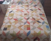 ON SALE:  Fresh Queen Sized Quilt, Thimble Blossoms Design using Fig Tree Fabrics