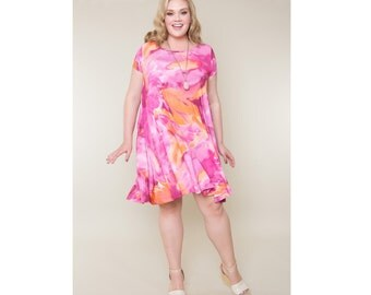 Swing Dress Matte Jersey Customizable 4 Lengths Misses & Plus Sizes 2-28