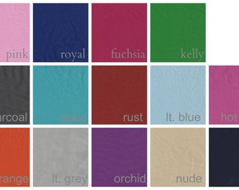 Matte Jersey Swatches for Garments Solid Colors