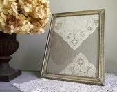 Vintage Brass Frame | Ornate Solid Brass 8 x 10 Frame | Romantic Hollywood Regency Decor | Vintage Bridal Wedding Decor