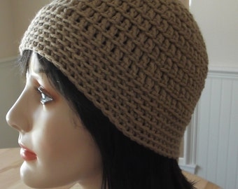Taupe Crochet Hat Taupe Winter Beanie Cold Weather Accessory Neutral Hat Ice Skating Snow Playing