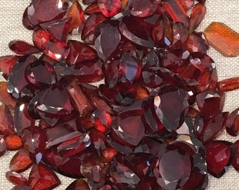 Hessonite garnet loose gemstones