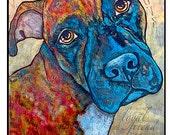 Brindle Pitbull Pop Art Leash Hook 6x8 Leash Holder Organizer Pet Lover Gift Home Goods Leash Collar dog Hook Pet Art Custom