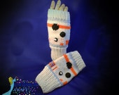 NEW BB-8 Fingerless Gloves for Star Wars fans Hand Knitted, droid