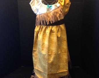 Disney Inspired Princess Pocahontas Boutique Peasant Dress