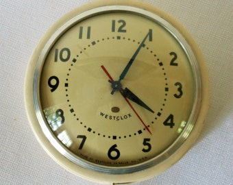 Vintage Westclox Kitchen Wall Clock