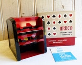 Vintage ARRCO Playing Card Shuffler with Original Box - Like New Condition - Mid-Century 1960s - Poker Night, Game Night - Las Vegas Fun