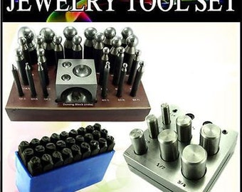 24pc Doming Dapping Punch Set Disc Cutter Letter Punch JSET175
