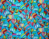 ZITA ONLY - Hot Air Balloons on Blue Background - Set of six napkins