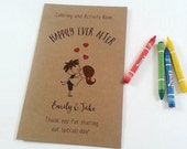Personalized Wedding coloring book / Wedding coloring activity book / kids activity book with crayons - Set of 6