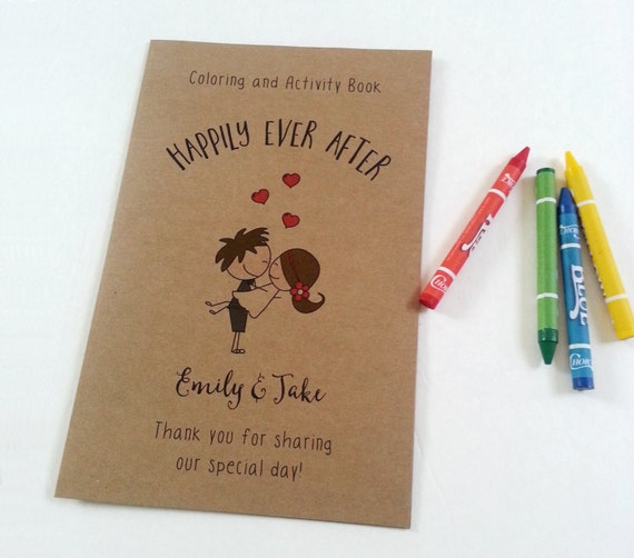 Personalized Wedding coloring book / Wedding coloring activity