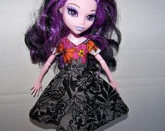 Handmade Monster High doll clothes - flowery dress