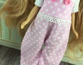 Blythe Overalls - Pink and White Spot