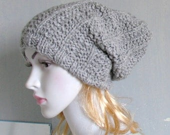 Hand Knit Hat  Slouchy Hat  Slouchy Women Hat  Slouchy Beanie  Oversized Hat  Chunky Knit  Winter Hat Women Knit Hat