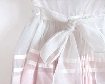 1950s Little Girl's Dress with Big Bow Sash - Photo Greeting Card - Pink and White Dress - Mid-Century Memories