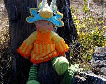 "Waldorf knitted doll Radka 14"""