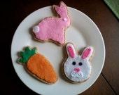 Easter felt cookies