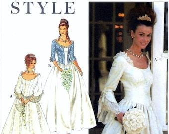 Simplicity Style 9025 Renaissance 18th Century Corset Wedding Dress Costume Sewing Pattern Size 8-18 Medieval Boho