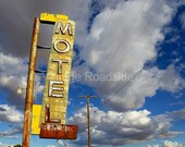 The Henning Motel (Newberry Springs, California) Fine Art Photograph. Vintage neon sign - Route 66 Road Trip Decor. Motel theme.