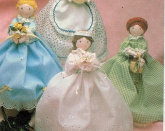 McCalls Pattern 8478 Quaint Ann Doll Bride, Bell of the Ball, Grandma, Mrs. Threadbender