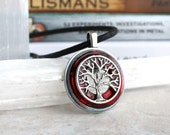 red tree of life necklace, mens necklace, tree jewelry, unique gift, nature necklace, elven jewelry, mens jewelry, celtic jewelry, mens gift