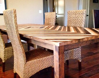 Dining Room/Kitchen Table - Chevron - Reclaimed Wood Table