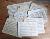 Batch of French music sheets 10 Partitions  Marching band music board Old papers