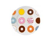 Donut Ceramic Plate Birthday Cake Plate Dinner Plate Fun Plates Decorative Plate Wedding Cake Plate Desert Plate Christmas Gift