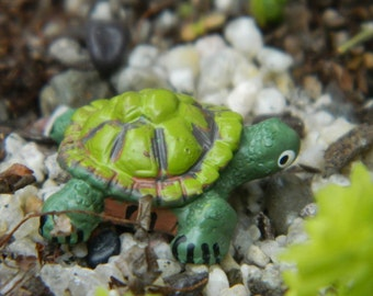 Fairy Garden Miniature Turtle Accessories for terrarium {ships free at no additional cost with another item}