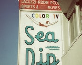 Retro Motel Sign, Beach Decor, Sea Dip Motel, Myrtle Beach Photography