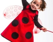 Ladybug Costume Toddlers ladybug costumes 6PC Girls toddler costume Ready to ship Halloween costumes for kids.
