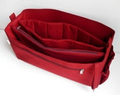 XXL Bag organizer for  Salvatore FerragamoTote Bag size 19Lx13H x7W- Purse organizer insert with zipper and laptop divider