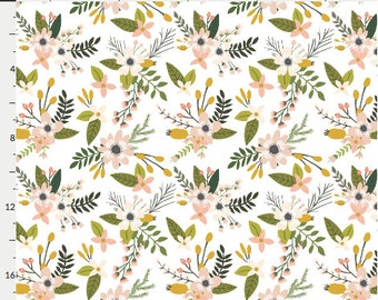 Changing Pad Cover - Sprigs and Blooms Blush - Contoured, Baby Girl Changing Pad Cover, Nursery,