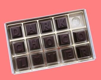 Dark Chocolate Message Personalized Dad Gift Womens Mens Girlfriend Boyfriend Gifts Him Her Anniversary Birthday Gift Cute Customized Gift