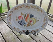 On Sale Vintage Kenro Melamine Festivity Serving Platter With Fruit Design Turkey Platter