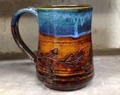 A Caramel Oak Leaf Mug