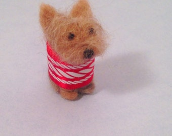 Yorkie Miniature, wool needlefelted