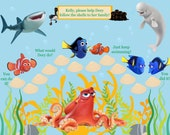 PRINTABLE Personalized Child Incentive/Reward Dory's Adventure - Jpeg PDF
