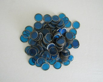 Vintage Blue & Metal Game Chips