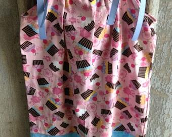 Cupcakes - Pillowcase Dress - Size 2  toddler 7 8 years