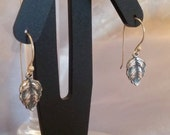 Silver plated acanthus leaf earrings