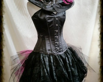 Witch Costume Halloween Goth many sizes  corset  By Gothic Burlesque