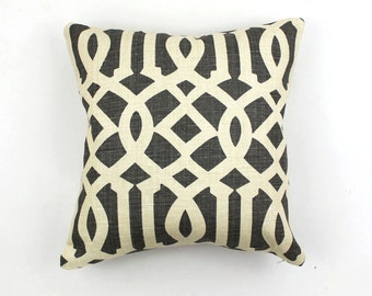ON SALE Schumacher Kelly Wearstler Imperial Trellis Midnight Pillow Covers